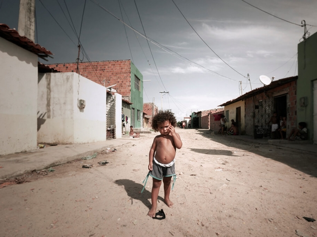 child in favela